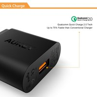 Wholesale Qualcomm Certified Aukey Quick Charge W USB Wall Charger Smart Fast Charging For iPhone iPad Samsung Galaxy Note Xiaomi