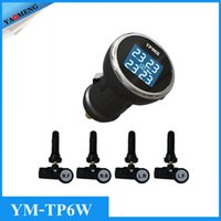 automotive gas systems - YAOMENG TP6W built in Cigarette lighter power TPMS Tire Pressure Monitoring System with internal sensors RF wireless save gas