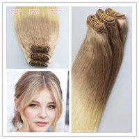 Wholesale Ombre Blonde Brazilian Human Hair Weaves A Human Hair Weft High Quality Straight No Tangle No Shedding