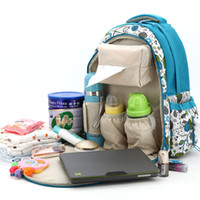 Wholesale Large Capacity Mother Outdoor Travel Bag Mummy Baby Diaper Bag Womens Waterproof Backpack Multifunctional Nappy Changing Tote