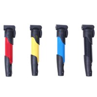 Wholesale 1Pcs Bicycle Pumps Mini Portable High pressure Bicycle Pump Pedal Cycling Pumps Straddling Inflator fpr Mountain Bike