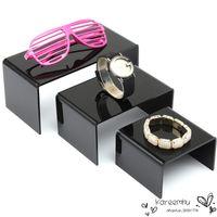 acrylic shelf risers - 2015 Hot Sale Wallets Bag Acrylic Holder Display Nesting Plinths Shelf Riser Shop Jewellery Stands Handbag Organizer