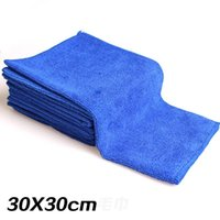 Wholesale 30 CM Multipurpose Soft Absorbent Microfiber car wash towel household kitchen furniture flooring water Cleaning Towels W048