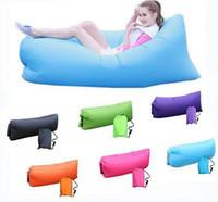Wholesale Lamzac Hangout Light Weight Fast Inflatable Sleeping Bag Lazy Lounge Chair Bag Inflatable Comfortable Seat Sofa Air Sofa sleep Bag