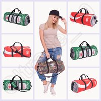Wholesale 300PCS LJJH1318 D Printing leaf emoji Fitness bag Space Galaxy Duffle Sport Tote Yoga Fitness Travel Gym Bag Handbag Women Men