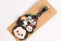 Wholesale Cheap price micky minnie tsum tsum stitch line pvc soft rubber bulk luggage tags baggage name tag luggage tag