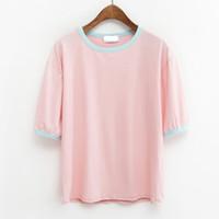 best friends cute - harajuku shirt korean ulzzang summer style japan cute kawaii rock fashion pink hit color best friend t shirt women tops