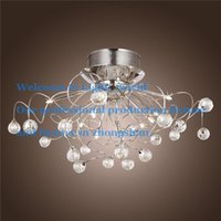 Wholesale Modern Crystal LED Chandelier Ceiling Light Fixture Lighting Crystal Chandelier Lamps Pendent light with G4 Lights