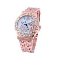 al por mayor vestidos baratos de la mariposa-reloj de lujo exquisita diseñador señoras de las mujeres del diamante del oro de la mariposa vestido de reloj de cuarzo reloj de pulsera baratos parte