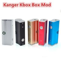 Wholesale 5 Colors Kanger Kbox box mod variable wattage W kbox mod battery mod for sub ohm atomizer atlantis subtank mini nano