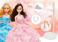 Muñecas lindas España-Juguetes hermosos de la manera del cuerpo de la muñeca del juguete hermoso lindo de la muñeca de 1pc juguetes clásicos plásticos de la manera del juguete de las muchachas de la alta calidad juegan los 30cm
