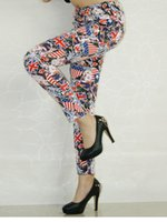 american flag tattoos - women s clothes D print digital print Tie dye American flag Leggings women tattoo leggings wl8187