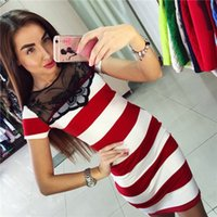 Wholesale Lady Star New Arrival Spring Dress Women And Big Girl s Double breasted Long Sleeve Pleated Princess Dress Stripe Slim Figure Hot A
