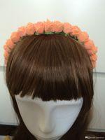 Wholesale Children s Flower Headband Boho Floral Headwear Festival Wedding Flower Girls Hairband Garland