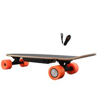 adult kick scooter - Black W Electric Skateboard with Remote Control Flat Plate Planar Wheels Wood Plastic Kick Scooters for Men and Women Adults W1R