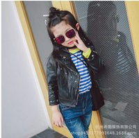 big leather jackets - The new models fall big virgin girls temperament Slim fringed leather motorcycle zipper jacket