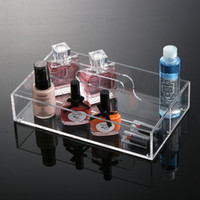 acrylic organiser - 2016 New Anti Scratch Fashion Acrylic Clear Makeup Organiser Cosmetic Display Jewellery Storage Case for Lip Balm Lip Gloss Mascara MN C