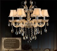 armed shop - Luxury Export Crystal Chandelier Arms for dining room shop Living Room Lights Luxury Lamp Lustres De Cristal Chandeliers