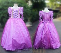Wholesale 2016 New High Quality Christmas Halloween Carnival Party Costume Cinderella Sofia Princess Dress Summer Flower Girl Dress Vestido Longo