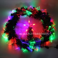 article rattan - Christmas Garland Christmas Fiber Garland Christmas LED Lamp Decoration Hanging Drop Christmas Gate Decoration Articles