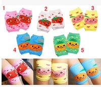 baby crawling socks - Fruit color small knee children socks baby knee baby sleeve baby crawl