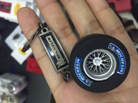 Wholesale BBS Wheel Rim Model Keychain Auto Parts Model Keychain Key Chain Ring Key Fob Keyring for brembo
