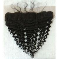 Wholesale x4 Deep Wave Lace Frontal Brazilian Virgin Hair Deep