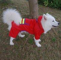 Собака одежды печати Pet Плащи собака плащи синий красный собака плащи 4 плащи размера для больших собак DHL освобождает перевозку груза