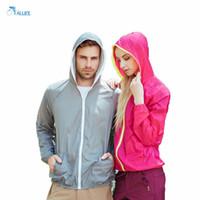 Wholesale Hot Sale Summer Sport Jacket Ultrathin Sunscreen Clothing Solid Color Long Sleeve Sun Protection Lovers Coat jaqueta feminina