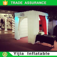 Wholesale best quality cabin tent inflatable photo booth led