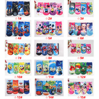 baby girl cars - DHL New D Cartoon Socks Children Baby Girls Boy Kids Cotton Printed Socks Frozen Elsa Anna Minion Minnie Mickey Super Hero Iron Cars