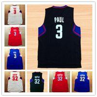 Wholesale NWT Rev Good Chris Paul Jersey Blake Griffin DeAndre Basketball Shirt Uniform Color Red Blue Black White Discount