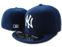 Wholesale Men s New York Fitted Hats Embroidered Team Logo Navy Blue Color NY Sport On Field Design Baseball Full Closed Caps Hip Hop Size Hat