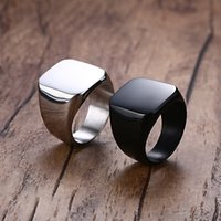 big band style - Men s Rings Stainless Steel Fashion Biker Jewelry Engagement Band Cool Big Punk Rock Style Two Color Options Price