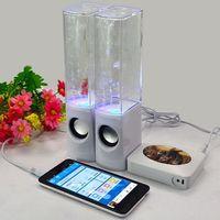 best active loudspeakers - Mini Portable Dancing Water Speakers Colorful LED Lighting Universal HIFI Music Fountain Loudspeaker Best MIS105