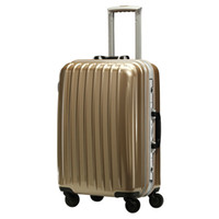 Wholesale Stick box universal wheel inch aluminum frame students luggage male inch business password trunk rose gold women
