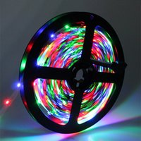 Wholesale 2835 SMD strip light DC12V M LED flexible ribbon tape lighting Non waterproof White RGB Red Blue Yellow indoor decoration CE ROSE