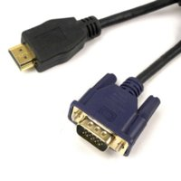 1.8M 6FT VGA to HDMI V1.3 Câble vidéo d'extension pour ordinateurs Câble adaptateur vidéo bon marché