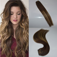 Cheap Unprocessed Virgin Remy Hair 7pieces Per Set Fade 3243 Ombre