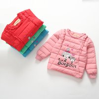 Wholesale Girls Long sleeves Inside Down Liner Children warm down clothes Winter warm outwear down garments for kids T
