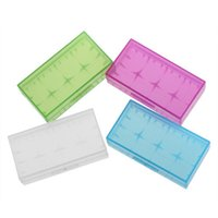 alkaline storage battery - portable battery case plastic battery container holder storage acrylic box mulit colors battery box hoder for VTC
