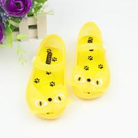 Venta al por mayor 2016 zapatos de verano Melissa bebés sandalias de la jalea del patrón lindo del gato Zapatos para niños Zapatos niños planas