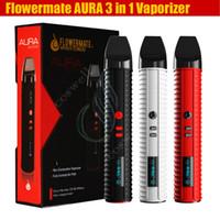 liquid - Original Flowermate AURA Vaporizer Starter Kit mAh Dry Herb waxy oil in1 e liquid Vape Pen E Cigarettes huge capacity Herbal Vaporizer