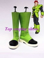 android shoes - Freeshipping custom made anime Dragon Ball Android Cosplay Show Boots shoes for Halloween Christmas festival