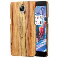 bamboo wood veneer - Woven Weave Wood Hard Leather Case For OnePlus One Plus Three Wooden Luxury Veneer Gluing Carbon Fiber Bamboo Phone Skin Cover