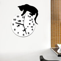 Wholesale 2016 hot sale acrylic mirror wall clock modern design clocks reloj de pared watch living room needle europe home vintage horloge TY1926