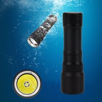 Wholesale Untrafire CREE XM L2 LED LM M Depth Waterproof Scuba Diving Flashlight Underwater Flashlight Torchwith Hand Hoster Black