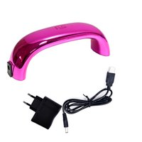 ac dc pink - Byfunme W LED rainbow nail art Gel Polish lamp PINK Accessories Tools AC DC V V Hot New