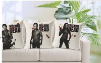 Wholesale Collection of the walking dead classic TV pillow massager cool war pillows case home bar humanity The zombie horror series