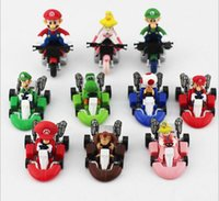 Wholesale Super Mario Kart cm styles back car toys for children Christmas gifts